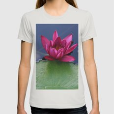 Lilypad Womens Fitted Tee Silver SMALL