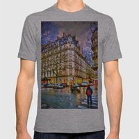 Rainy Evening In Paris, … Mens Fitted Tee Athletic Grey SMALL