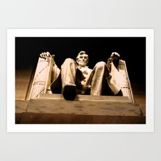 Lincoln stirs Art Print