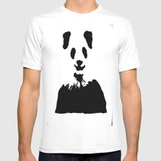 Pandas Blend into White Backgrounds Mens Fitted Tee White SMALL