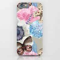 iPhone & iPod Case featuring Vintage Flowers & Moths by Studio Samantha