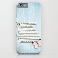 iPhone & iPod Case featuring Reiki Principles No.1 by Karen Johnson
