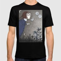 Winter Twilight Mens Fitted Tee Black SMALL