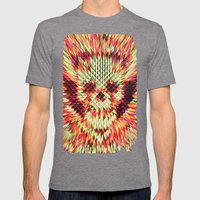 Geo Skull Mens Fitted Tee Tri-Grey SMALL