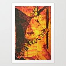 Fear Yellow Art Print