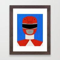 Red Ranger Framed Art Print