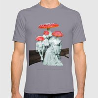 Amanita Muscaria With Ch… Mens Fitted Tee Slate SMALL