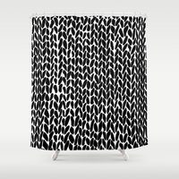 Hand Knitted Black S Shower Curtain