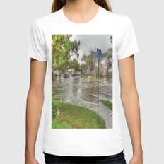 Flooded Streets Womens Fitted Tee White SMALL