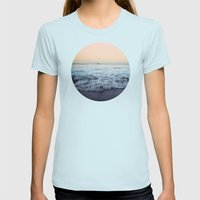 Crash Into Me Womens Fitted Tee Light Blue SMALL