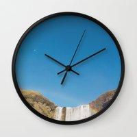 Skógafoss, Iceland Wall Clock