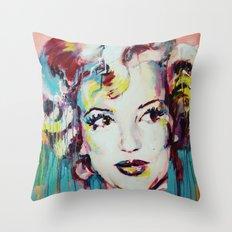 Merylin Monroe cinema and pop culture icon - portrait Throw Pillow