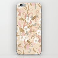 iPhone & iPod Skin featuring Floral Curve Pattern, Ro… by /CAM