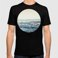 Pacific Ocean Mens Fitted Tee Black SMALL