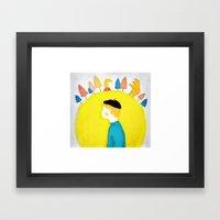 Mors lilla olle Framed Art Print