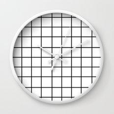 Grid (Black/White) Wall Clock