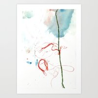 Thread Drawing no. 4 Art Print