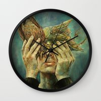 With one Stone. Wall Clock