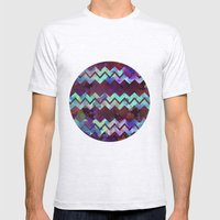 Chevron Pop Mens Fitted Tee Ash Grey SMALL