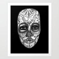 Floating Sugar Skull Art Print