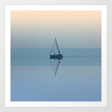 Solitude Sailing Art Print