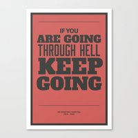 'If You Are Going Throug… Canvas Print