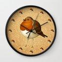 Chubby Erithacus Wall Clock