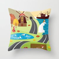 Planet Life Throw Pillow