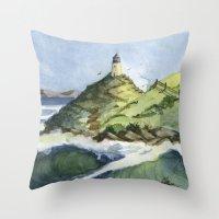 Peaceful Lighthouse V Throw Pillow