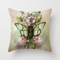 Cicada [The last summer chant]] Throw Pillow