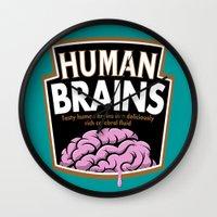 Human Brains Wall Clock