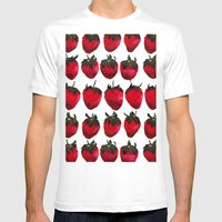 Little Strawberries Mens Fitted Tee White SMALL