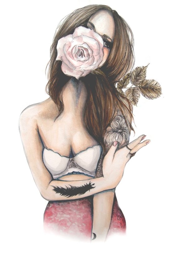 Charmaine // Fashion Illustration Art Print