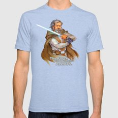 Old Man Luke  Mens Fitted Tee Tri-Blue SMALL