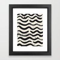 ONE / Cream Framed Art Print