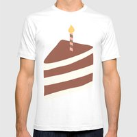 Piece Of Cake Mens Fitted Tee White SMALL