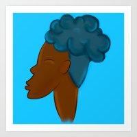 CROWN - SKY  Art Print