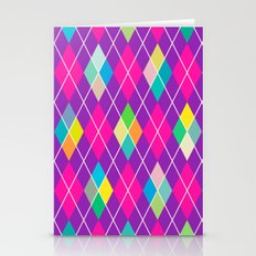 Colorful Geometric IV Stationery Cards