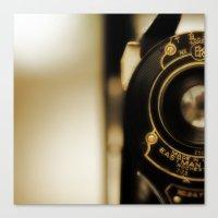 Vintage Folding Camera Canvas Print