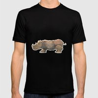 Thinking Rhinoceros Mens Fitted Tee Black SMALL