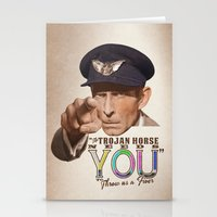 The Trojan Horse needs You...BUY A PRINT, FUND A FILM Stationery Cards