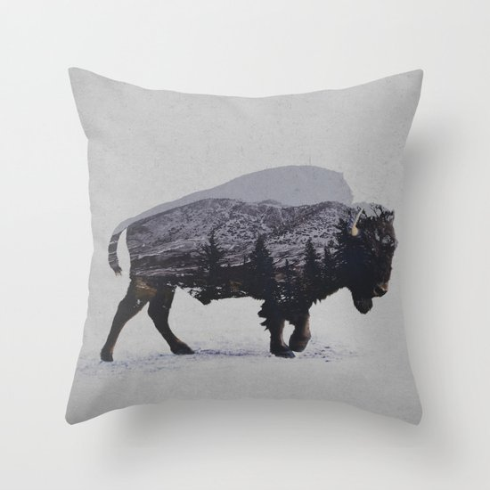 The American Bison Throw Pillow