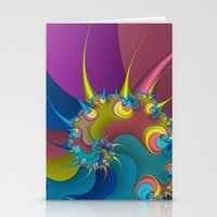 wet paint fractal  Stationery Cards