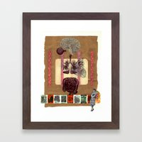 body bits Framed Art Print
