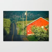 Hilly Country Road, Hood… Canvas Print