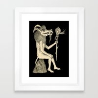 Creature Holding Sceptre Framed Art Print