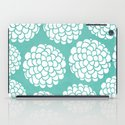 Turquoise Blossoms iPad Case