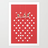 Polka Paint Art Print