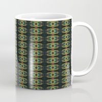 Peacock Bead Abstract Mug