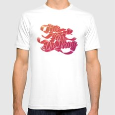 Live Fast Die Young White SMALL Mens Fitted Tee